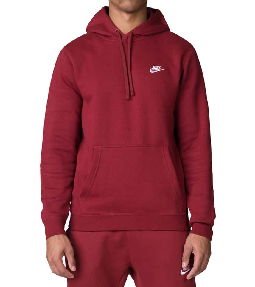 062866f8679e Nike NIKE CLUB SWOOSH PULLOVER HOODIE (Red) - 804346-677