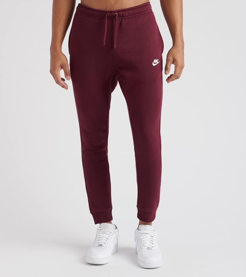 18972d4d2977 Nike Club Fleece Jogger Pants (Dark Red) - 804408-681