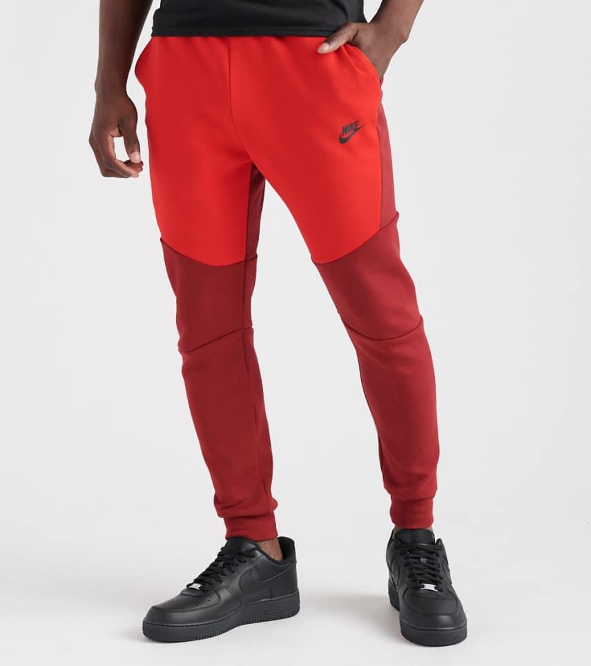 a7812a0bd39c35 Nike TECH FLEECE PANTS (Red) - 805162-677