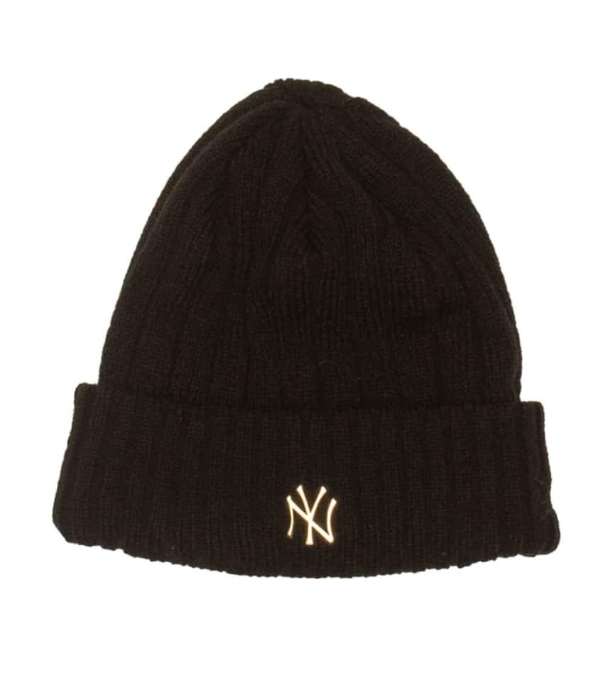 e7101f899863 New Era New York Yankees Slick Knit Hat (Black) - 80526591
