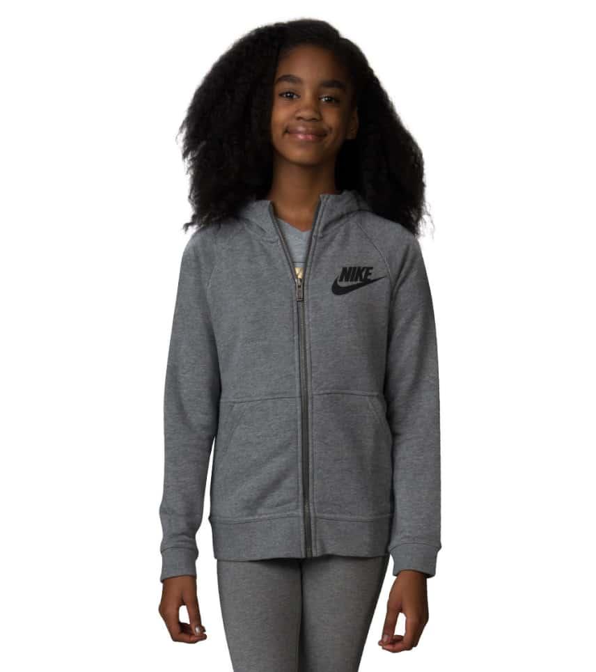 b5d7ecec383e Nike GIRLS MODERN FLEECE HOODIE (Grey) - 806212-091
