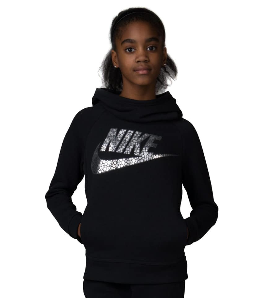 Nike Girls Modern PUllover Hoodie (Black) - 806216-010  8b3de796b