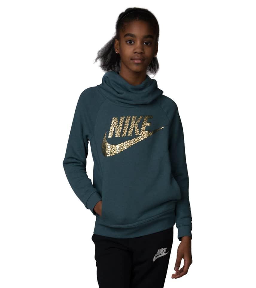 3ffb92f080fc Nike GIRLS 7-16 MODERN PULLOVER HOODIE (Green) - 806216-392
