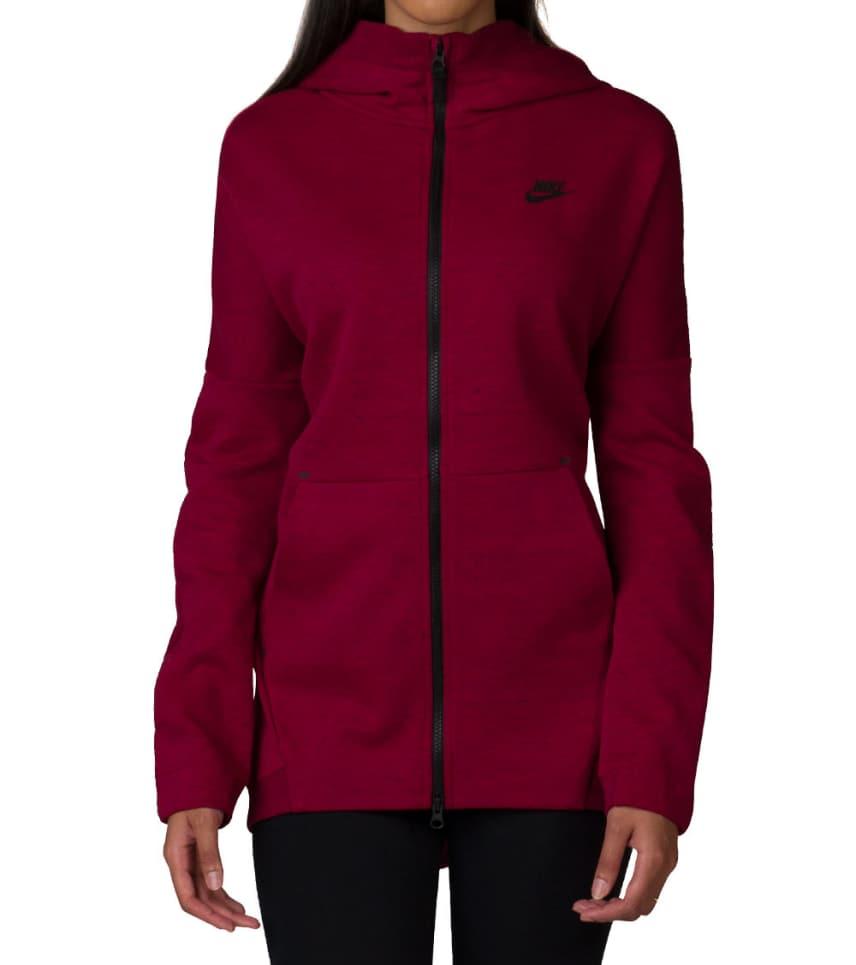 Nike Nike Tech Fleece Hooded Cape (Red) - 811710-620  2f0c8bbca1