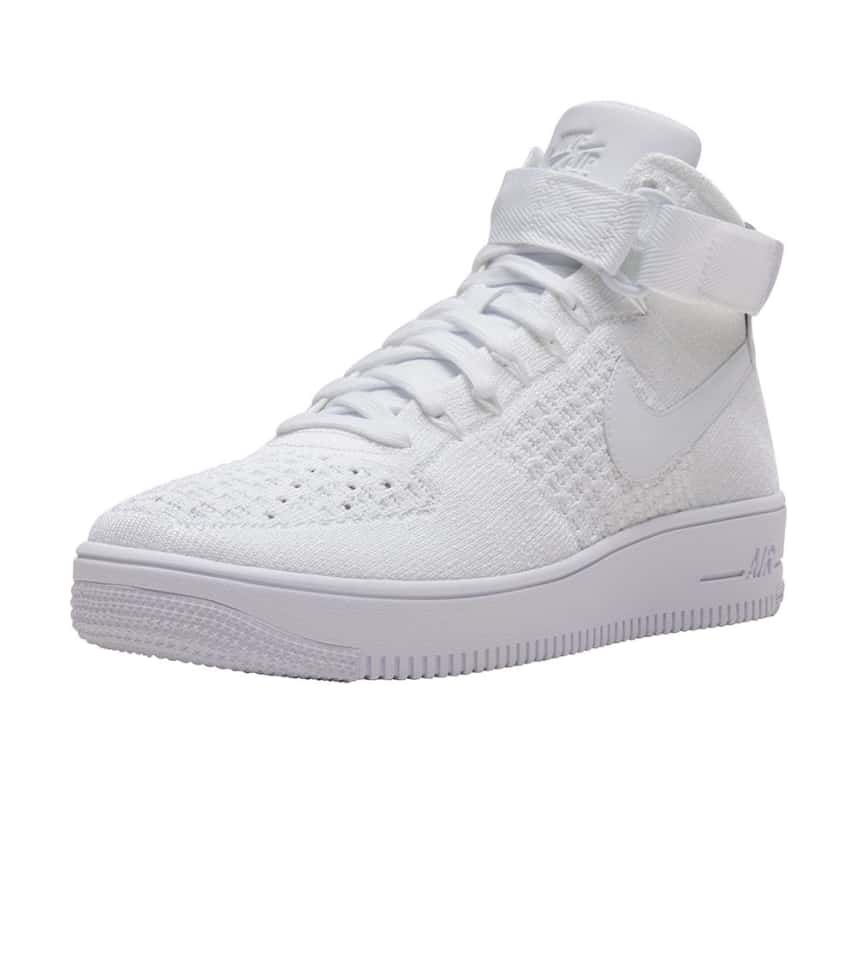 bb997daee9038 Nike AF1 Ultra Flyknit Mid (White) - 817420-102