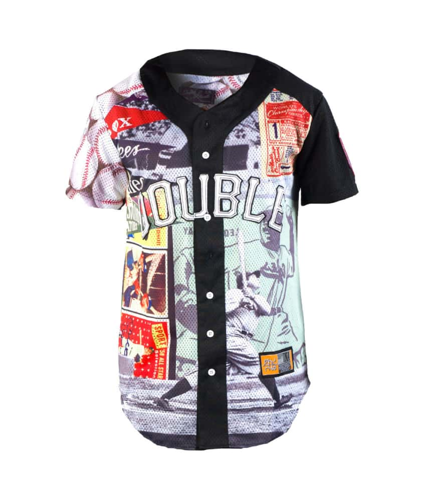 Double Needle Pastime Baseball Jersey Tee Multi Color 8272