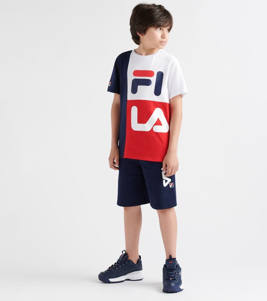 9394a457f9c9 FILA Stacked Colorblock Tee (Multi) - 82F368-RED   Jimmy Jazz