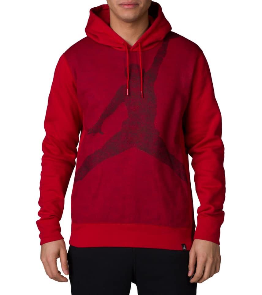 9d2a37b5451f96 Jordan JUMPMAN BRUSHED GRAPHIC HOODIE (Red) - 834369-687