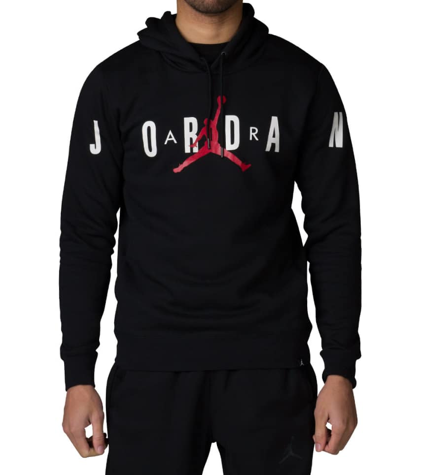 ba7001a85e1234 Jordan JUMPMAN BRUSHED GRAPHIC PULLOVER HOODIE (Black) - 834371-010 ...