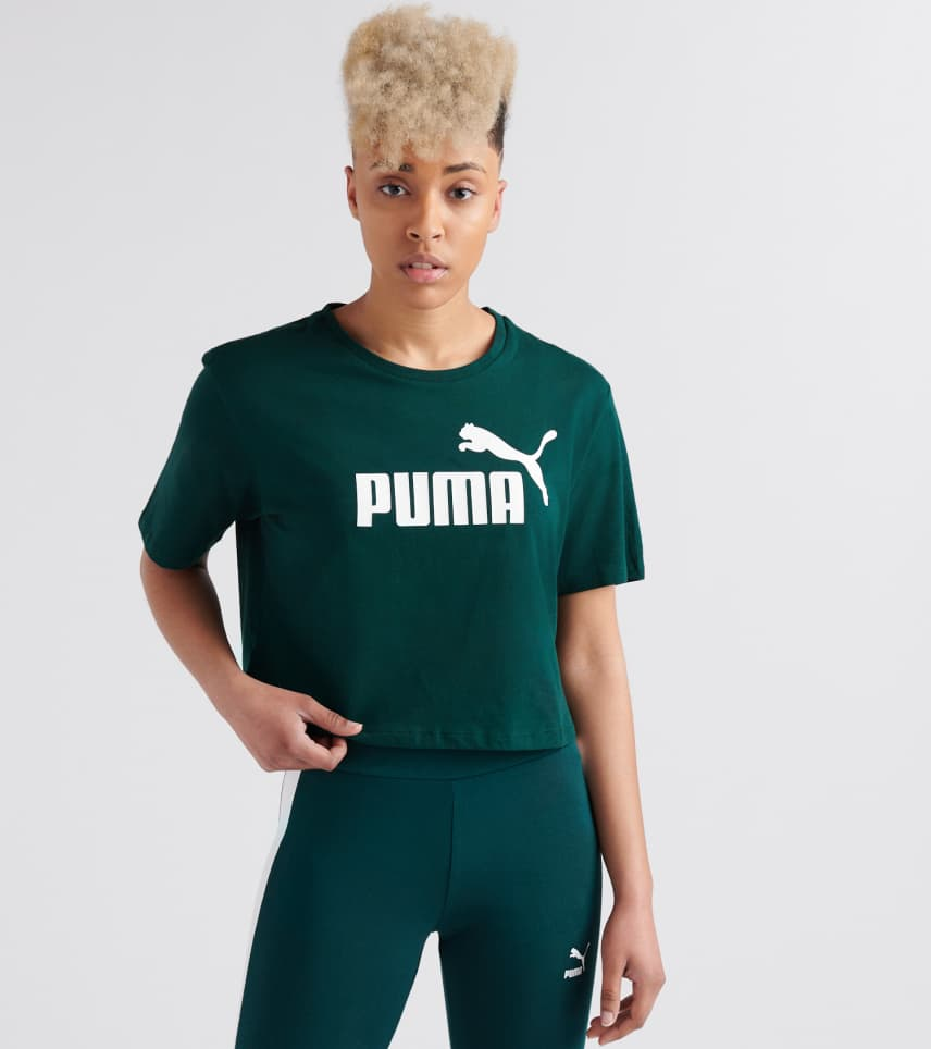 cf2f13e32b7 Puma ESS Cropped Logo Tee (Dark Green) - 85259430-300 | Jimmy Jazz
