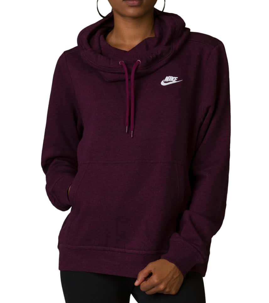 37d8d8d59 Nike Womens Club Funnel Hoodie (Burgundy) - 853928-609 | Jimmy Jazz