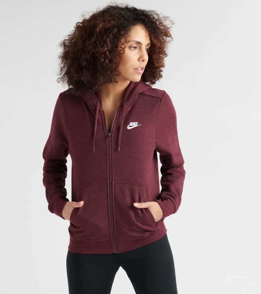 68aea5590076 Nike Club Full Zip Hoodie (Burgundy) - 853930-652