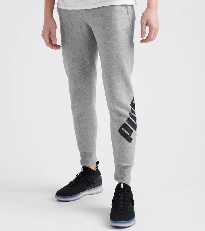 70c01a873bd0 Puma Oversized Logo Fleece Pant (Grey) - 85507003-060