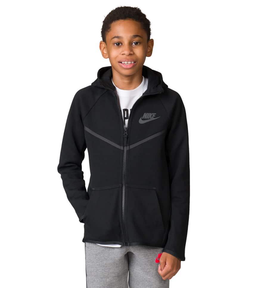 054ffab3 Nike Boys 8-20 Tech Fleece Windrunner Hoodie (Black) - 856191-010 ...