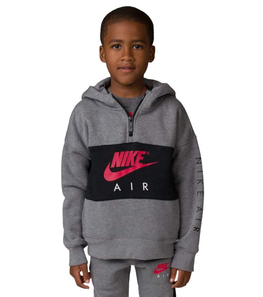 a10891339d83 Nike Boys 4-7 Nike Air Half Zip Hoodie (Grey) - 86C342-GEH