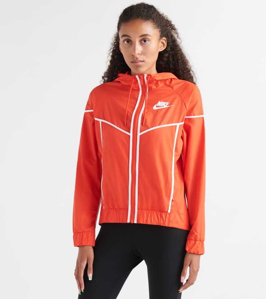 Nike Boy's (8 20) NSW HBR Windrunner Jacket (Black Hvit)  White)