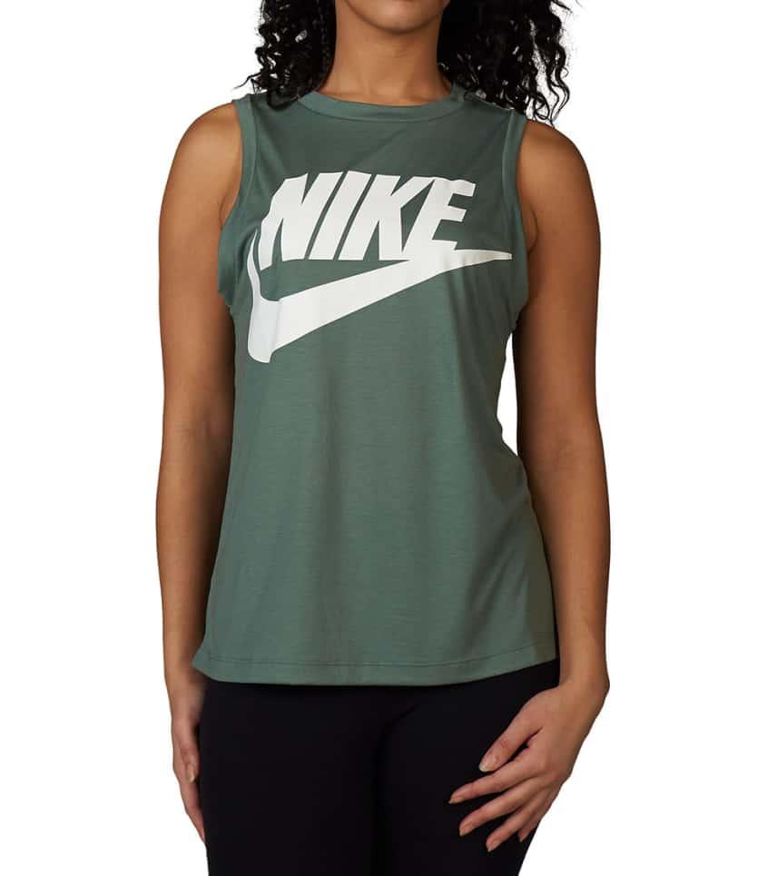 Nike Essential Muscle Tank (Medium Green) - 883642-365  25e686fb9