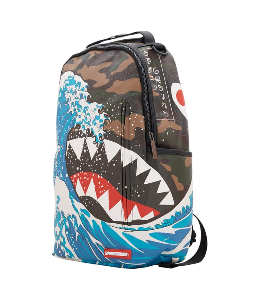 ccb76477 Sprayground Camokawa Shark Backpack (Multi-color) - 910B1504NSZ ...