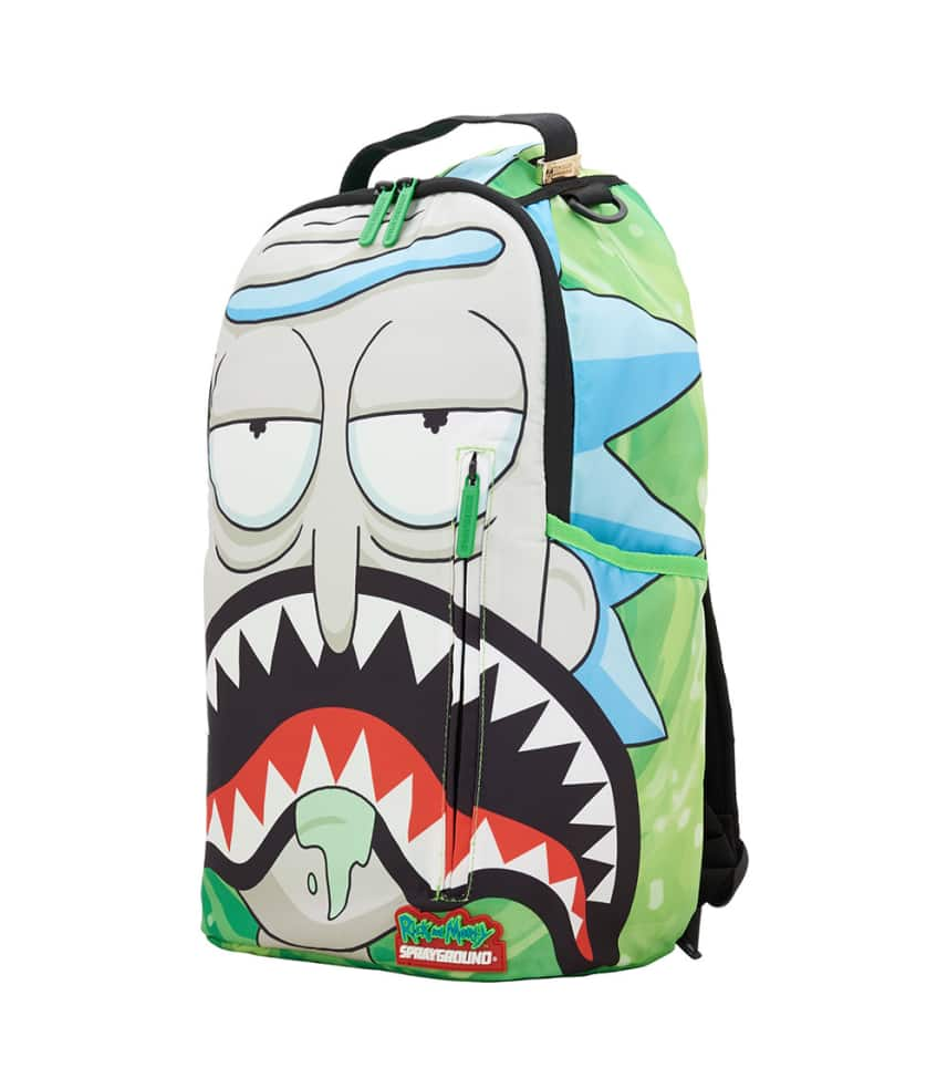 Bape Shark Backpack >> Rick And Morty Shark Backpack