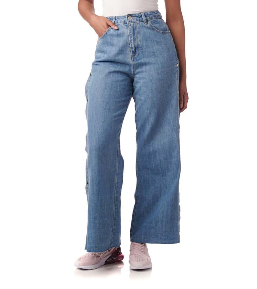 38f9d579bfb Essentials Side Snap Jeans (Blue) - 91249-MED | Jimmy Jazz