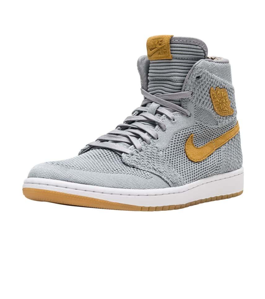 ddecf68e66a176 Jordan Retro 1 High Flyknit (Grey) - 919704-025