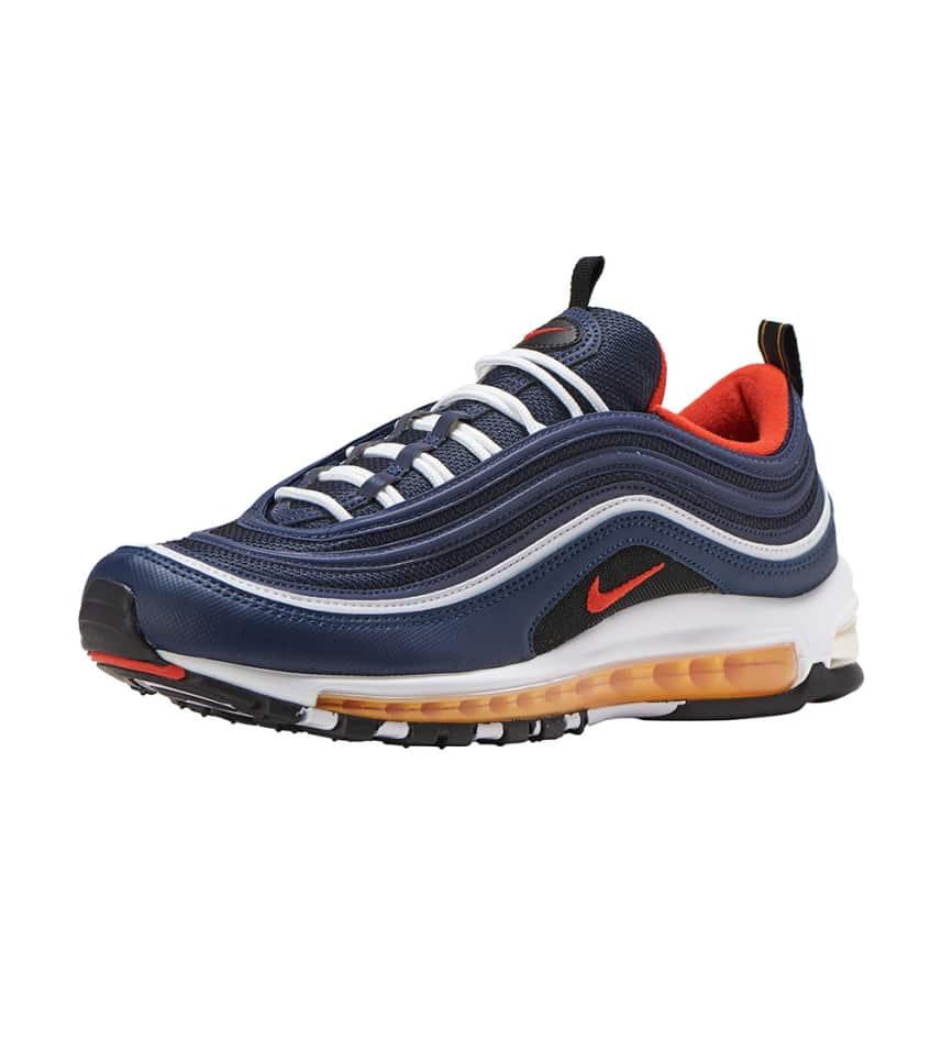 Mens Womens Winter Shoes Nike Air Max 97 Premium Navy blue North Carolina Blue white NIKE009887