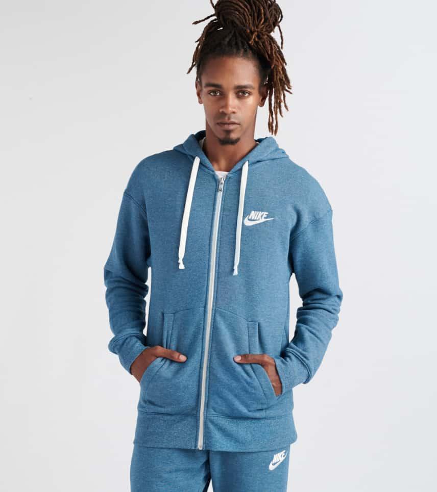 51a24a530206 Nike Heritage Full Zip Hoodie (Medium Blue) - 928431-474