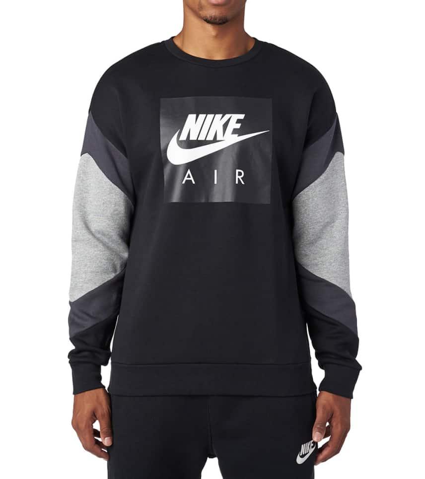 153ef3e28b5d Nike Air Fleece Long Sleeve Crew (Black) - 928635-010