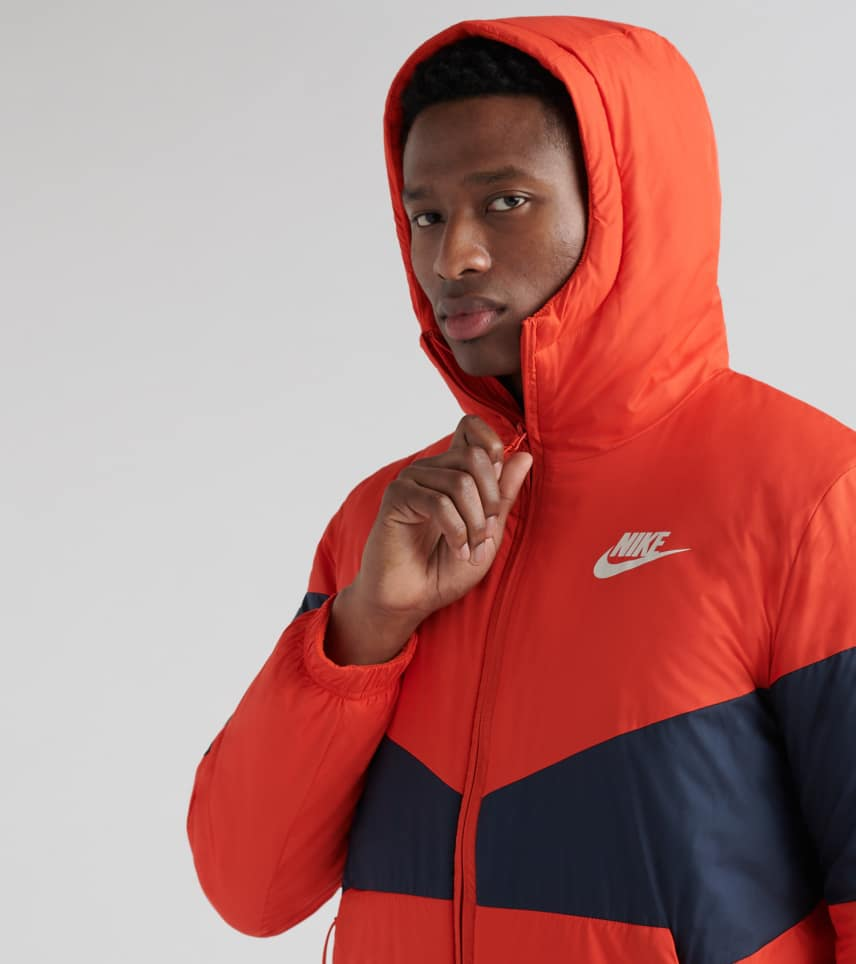 Nike Synthetic Filled Hooded Jacket (Orange) - 928861-634  848c62f3898