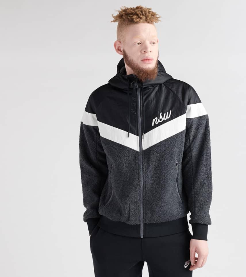 3eb4e42c4f46f Nike Windrunner Sherpa Jacket (Black) - 930316-010