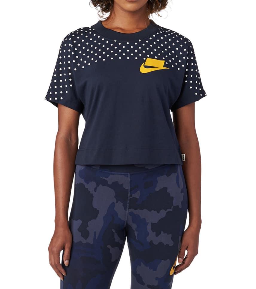 82f446c2bf2 Nike Sportswear Short Sleeve Crop Top (Navy) - 930539-475 | Jimmy Jazz