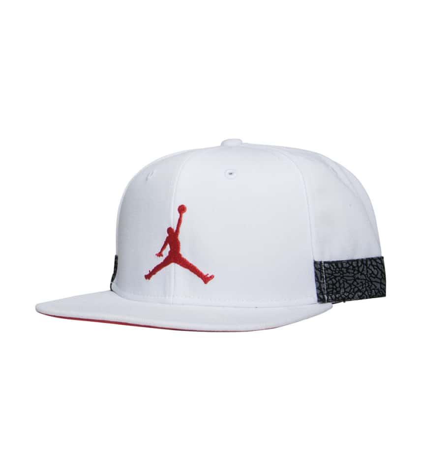 a8456aa147b Jordan AJ 3 Jumpman Pro Snapback (White) - 942188-101