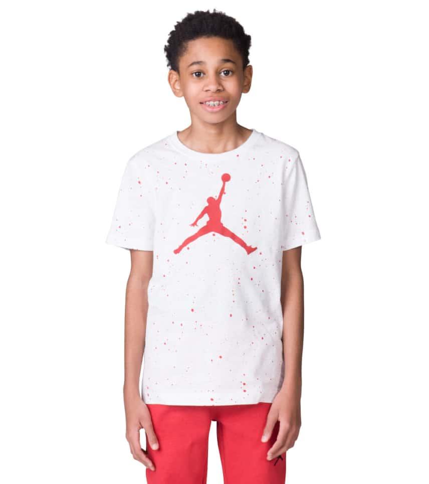 99464710afa6 Jordan Boys 8-20 Jordan Speckle Tee (White) - 954235-WR2