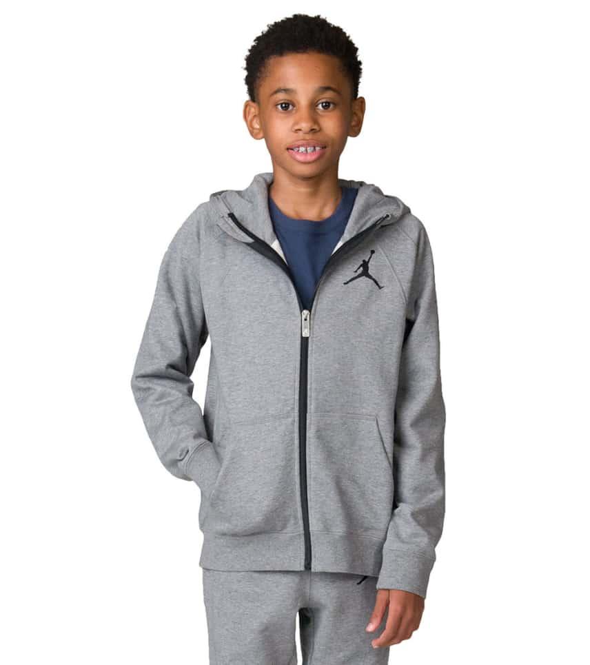 77d3b09372ef Jordan Boys 8-20 Wings Fleece Hoodie (Grey) - 954601-GEH