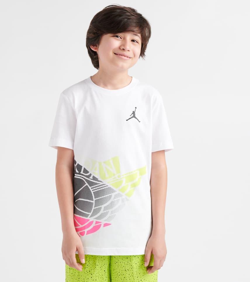 993a2115b33d Jordan Shattered Wings Tee.  25.00. COLOR  White. Jordan - Short Sleeve T- Shirts ...
