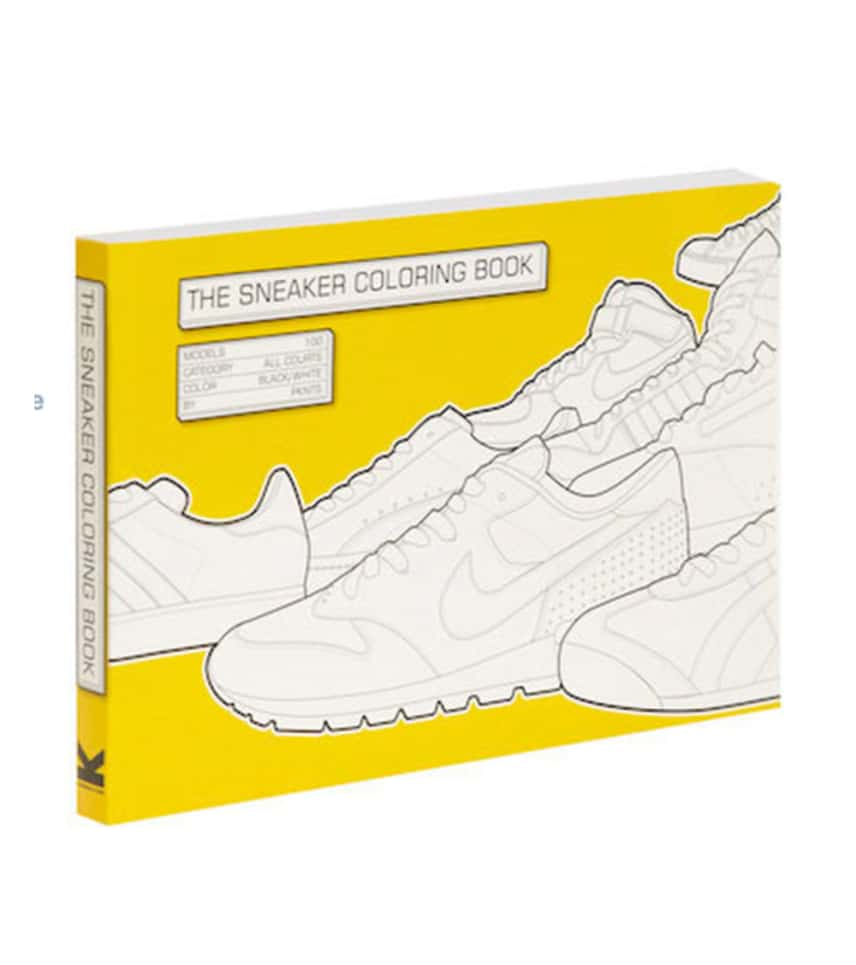 Chronicle Books The Sneaker Coloring Book Yellow 9781856696