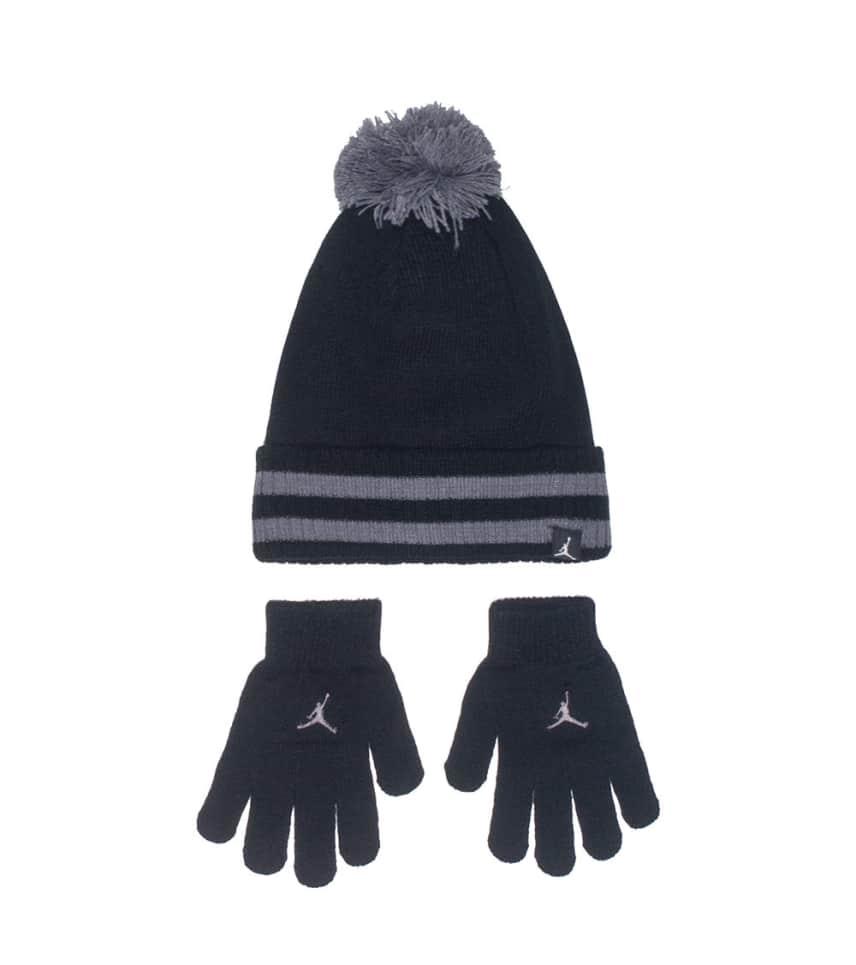 61b3034b8616fc coupon jordan kids pom beanie black gold dtlr villa 5d3a7 6b595  amazon  jordancuffed pom hat and gloves 2 piece set a4bd8 01ceb