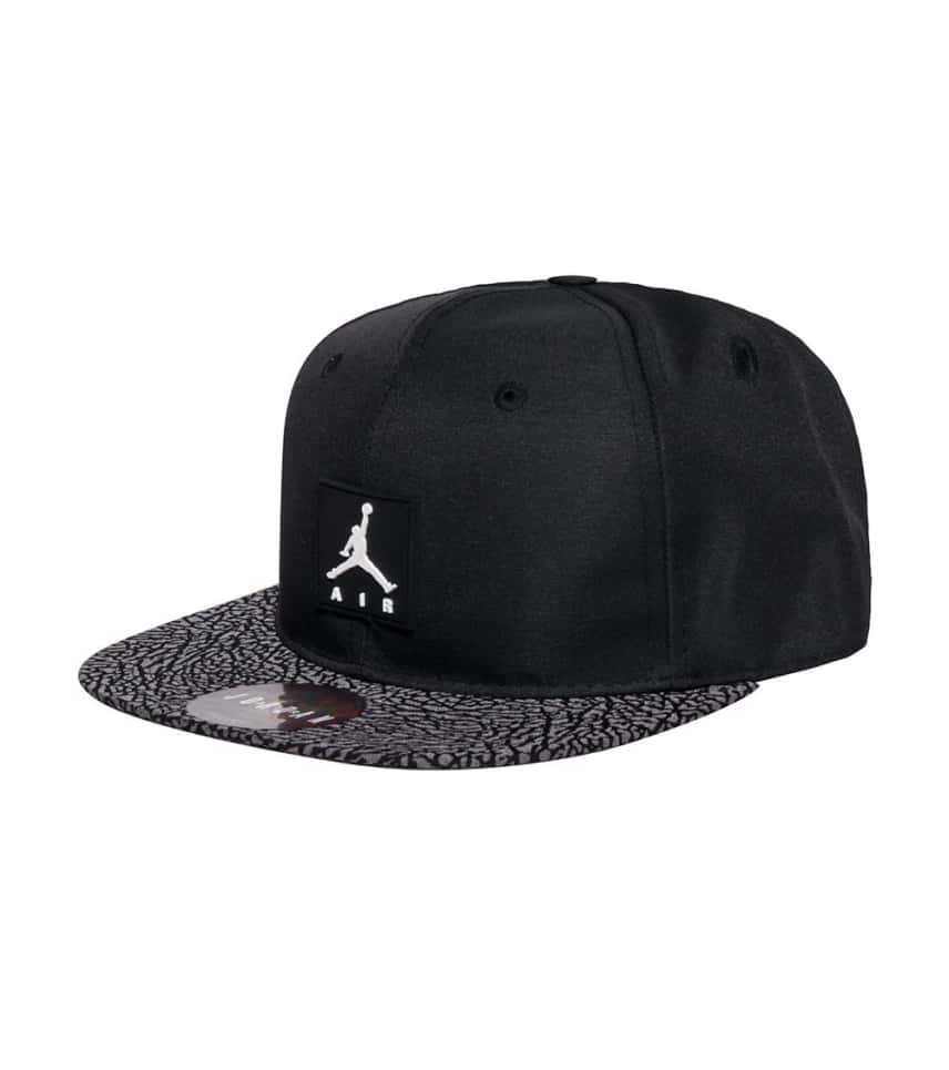 f5232e55 Jordan ELEPHANT REFLECT SNAPBACK CAP (Black) - 9A1704 | Jimmy Jazz