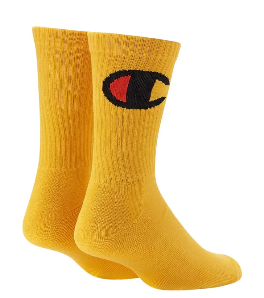 37690ea4f7c1a Champion Life Big C Crew Sock (Yellow) - A2224-MLV