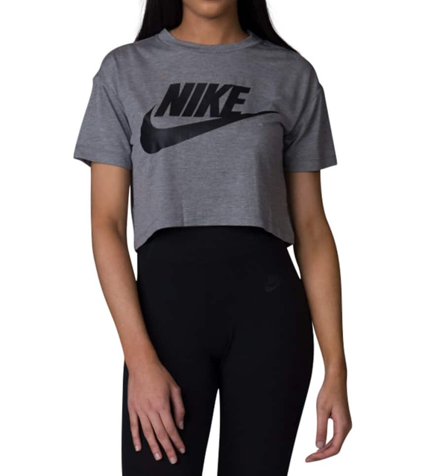 f8a16558becec7 Nike Essential Crop Top (Grey) - AA3144-091