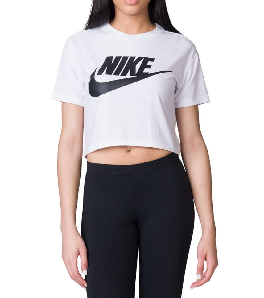 9517c46329b310 Nike Essential Crop Top (White) - AA3144-100