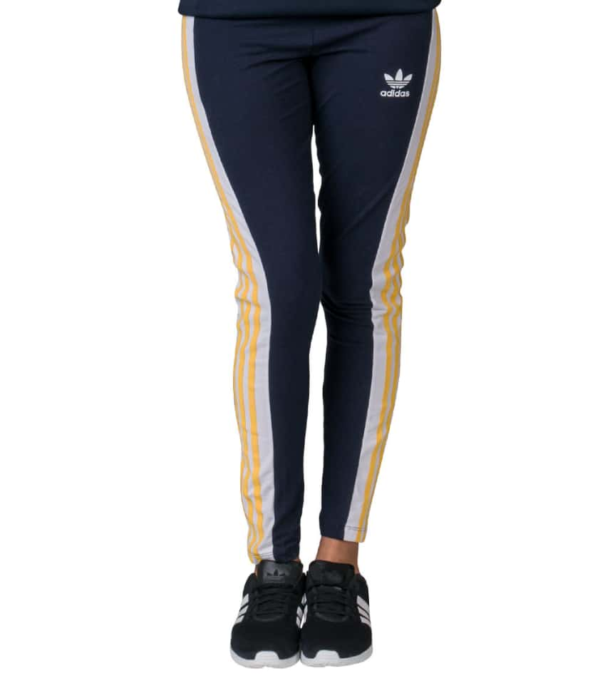55d3a91903369 adidas COSMIC CONFESSION 3 STRIPE LEGGING (Navy) - AA3874 | Jimmy Jazz