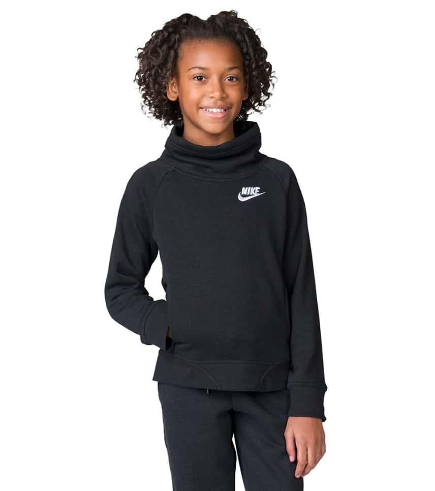 0b7b38d8ef0d Nike Girls 7-16 NSW Club Funnel Hoodie (Black) - AA8062-010