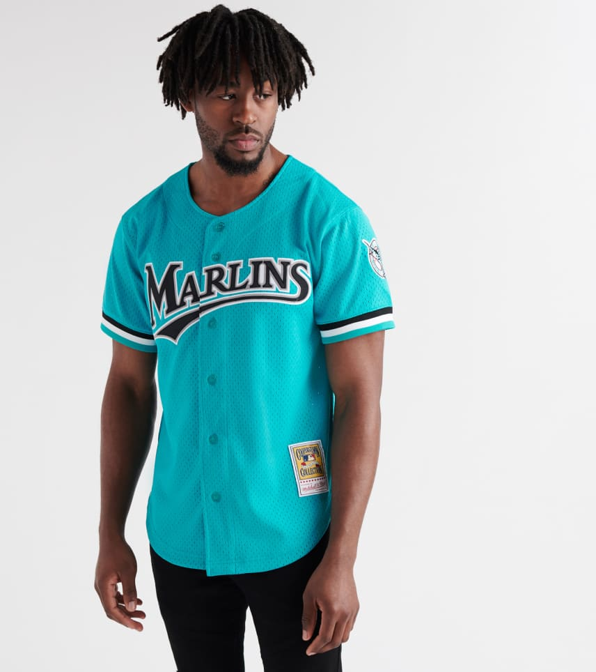 203276c5829 ... Mitchell and Ness - Button Down Shirts - Andre Dawson 1995 Marlins BP  Jersey ...