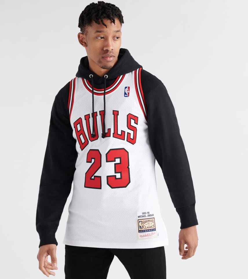 f4263326dbda Mitchell and Ness Chicago Bulls Michael Jordan Jersey (White ...