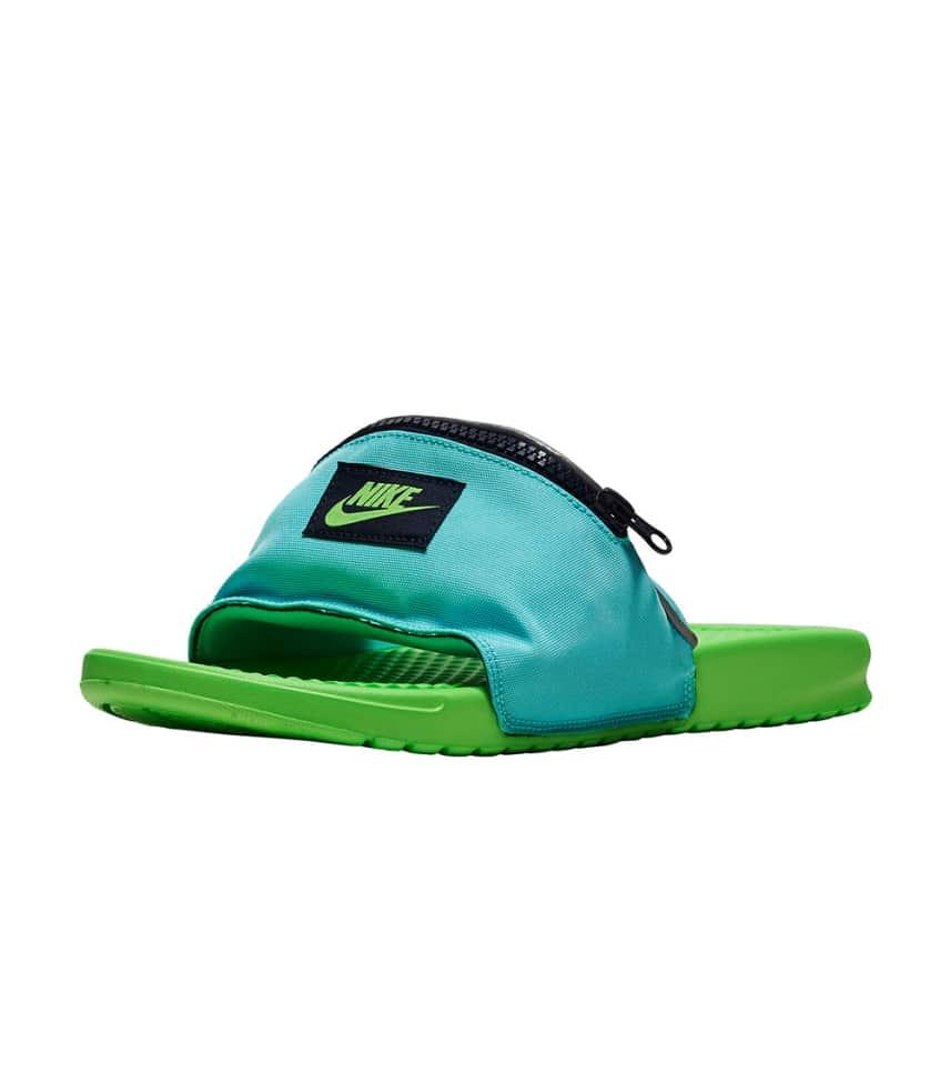 583fe2958074e0 Nike Benassi Fanny Pack Slide (Green) - AO1037-300