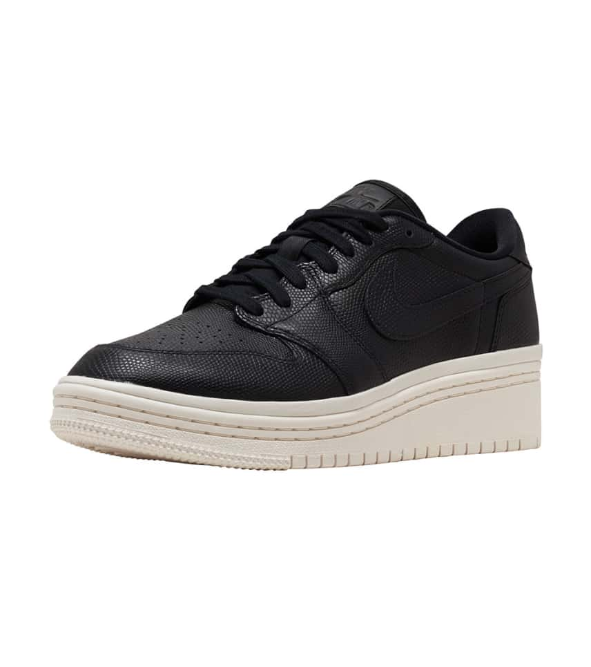 Jordan Retro 1 Low Lifted Sneaker (Black) - AO1334-014  a8a12ead81