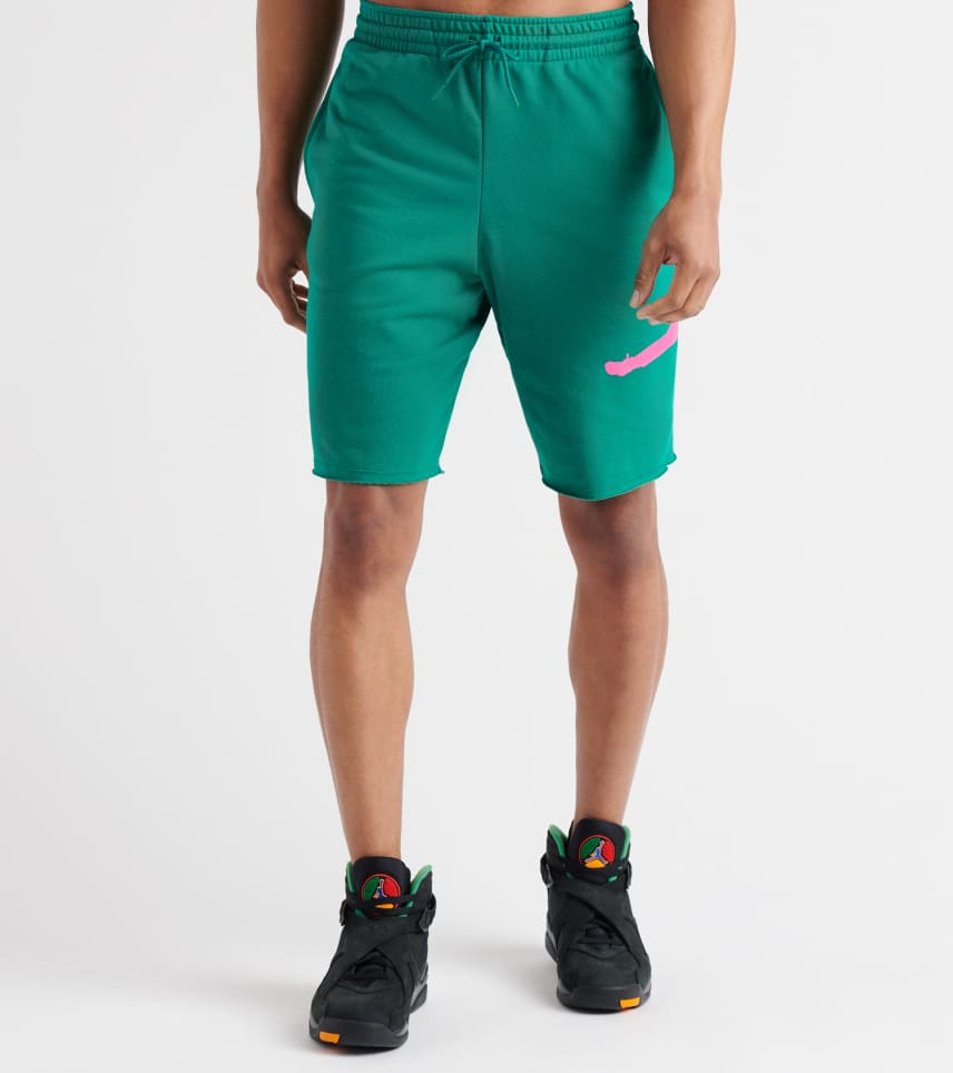 1fbaeec33dad Jordan Jumpman Fleece Shorts (Green) - AQ3115-340