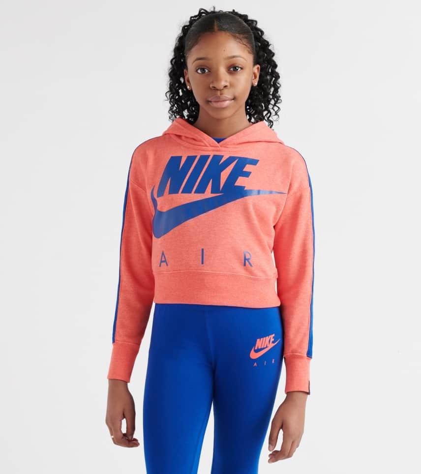 68124672890a Nike Sportswear Crop Pullover Hoodie (Pink) - AQ8844-850