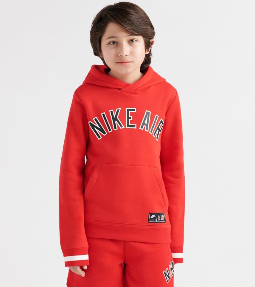 Nike Air Fleece PUllover Hoodie (Red) - AQ9418-657  0e3297066761